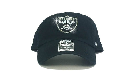Oakland Raiders '47 Brand Adjustable Cap + Custom Swarovski Crystals