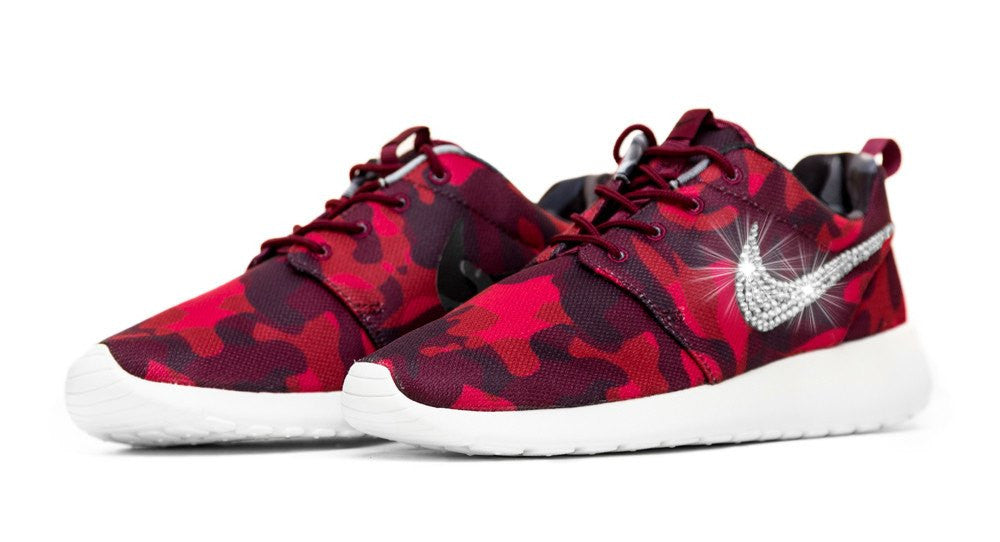Nike Roshe One Customized by Glitter Kicks - Red/Black Camo - Glitter Kicks - 4