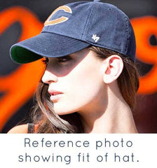 Chicago Bears '47 Brand Adjustable Cap + Custom Swarovski Crystals