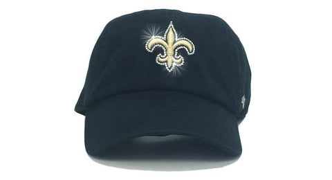New Orleans Saints '47 Brand Adjustable Cap + Custom Swarovski Crystals