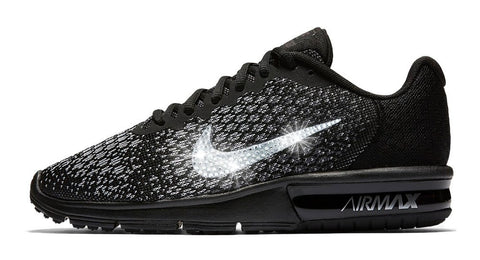 ... lower price with 563f7 2cd9b SALE - Nike Air Max Sequent + Crystals -  Black -  new product d4a95 9842c Nike Zoom All Out ... 8444ffea1e
