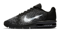 Nike Air Max Sequent + Swarovski Crystal Swoosh - Black