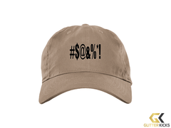 #$@&%*! - BX001 Brushed Twill Unstructured Cap