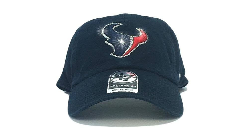 Houston Texans '47 Brand Adjustable Cap + Custom Swarovski Crystals