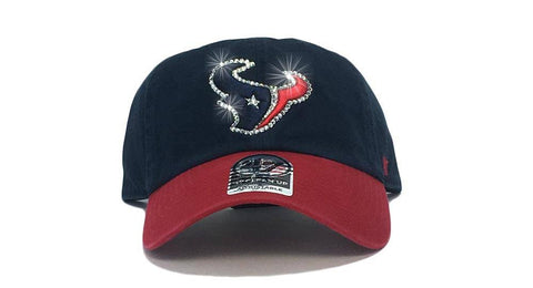 Houston Texans Two-Tone '47 Brand Adjustable Cap + Custom Swarovski Crystals