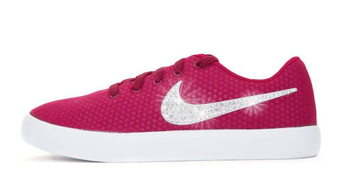 Nike Essentialist - Crystallized Swarovski Swoosh - Red - Glitter Kicks