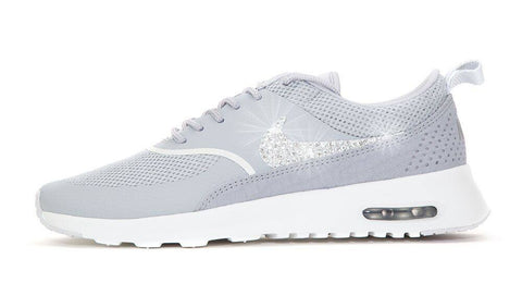 Nike Air Max Thea - Crystallized Swarovski Swoosh - Grey - Glitter Kicks