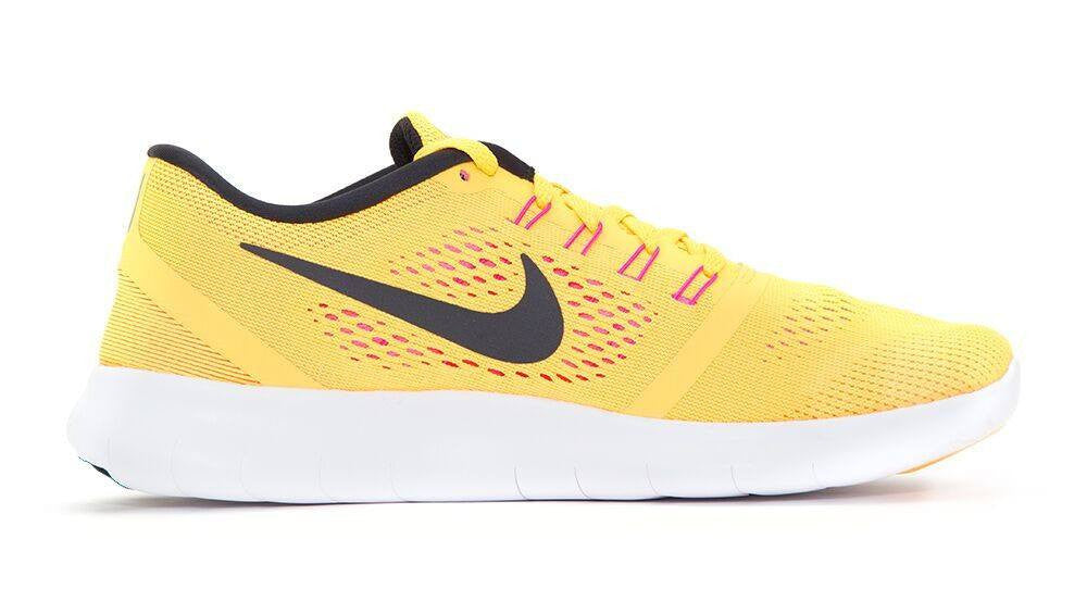 Women's Nike Free 5.0 RN - Customized with Swarovski Crystals Yellow/Orange - Glitter Kicks - 4