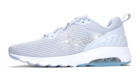 Nike Air Max Motion LW - Crystallized Swarovski Swoosh - Gray/White