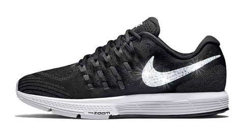 Nike Air Zoom Vomero 11 + Swarovski Crystal Swoosh - Black
