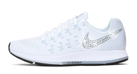 Nike Air Zoom Pegasus 33 - Crystallized Swarovski Swoosh - White