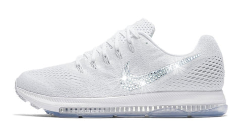 Nike Zoom All Out Low + Swarovski Crystal Swoosh - White