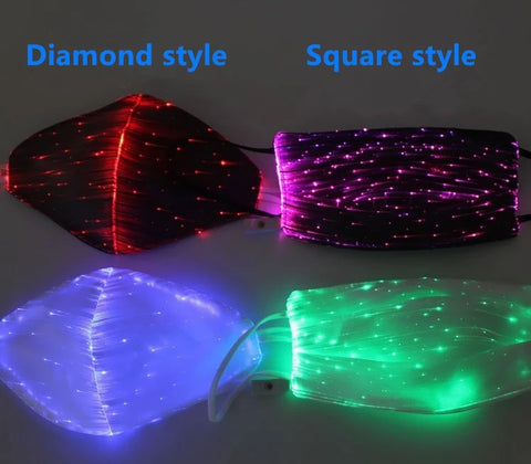 LED Light up Masks, 3D Cupped, Washable/Dry Fast and Rechargeable