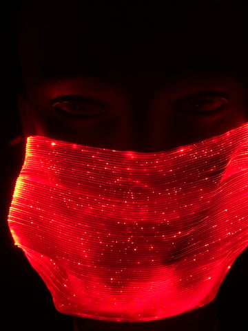 LED Light up Masks, Square, Washable/Dry Fast and Rechargeable