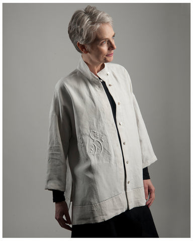 5) Ellen Jackets - Repurposed Vintage and Antique French Linen and Hemp