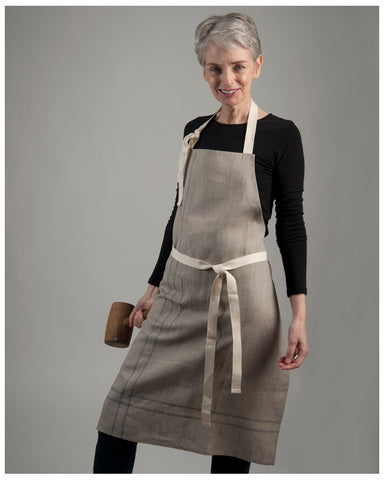 2) Aprons and Smocks - New Linen, Repurposed French linen, original French aprons