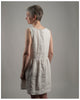 Laura Dress - Repurposed from vintage or antique French linen-- size extra extra small (style 02)