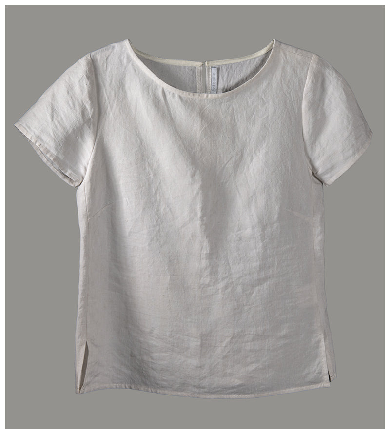 Alice top - French linen (size extra small) style 01