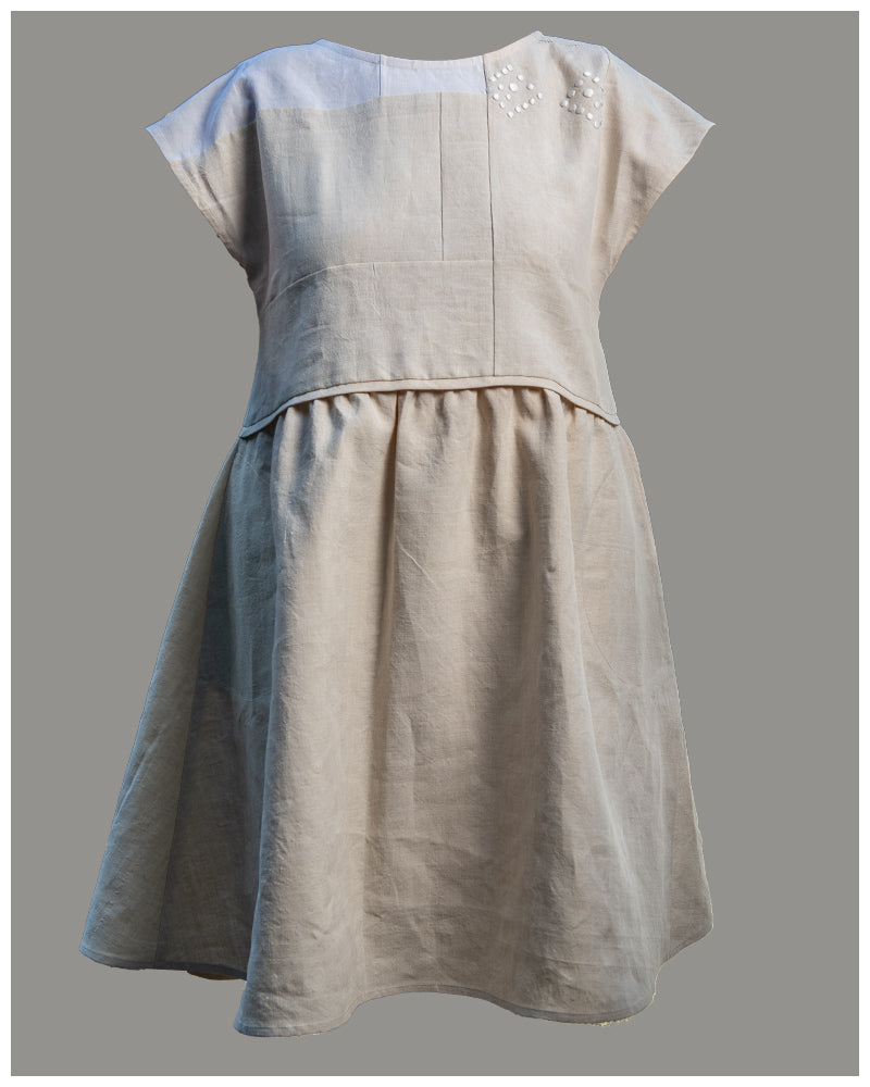 Freda Dress - repurposed vintage or antique French linen (size xs-s)