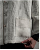 Ellen Jacket - repurposed vintage French linen-size regular-(style 03)