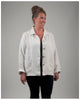 Women's Chore Jacket - Repurposed French Hemp -- size large (style 01)