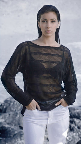 Sheer Striped Lightweight Sweater