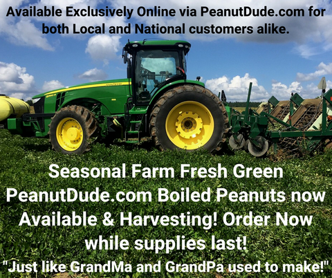*New* *Seasonal* Farm Fresh Green PeanutDude.com Boiled Peanuts - PeanutDude.com