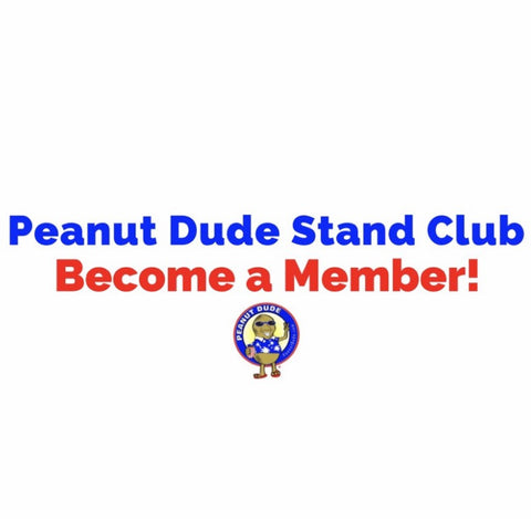 Peanut Dude Stand Punch Card (Locals Only) - Available nationwide at PeanutDude.com (As seen on CBS Sunday Morning Show)