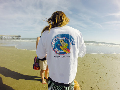 Peanut Dude Long-Sleeve (Surfer Dude Logo) - Available nationwide at PeanutDude.com (As seen on CBS Sunday Morning Show)