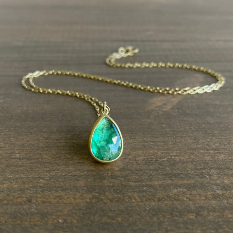 Lola Brooks Emerald Drop Pendant