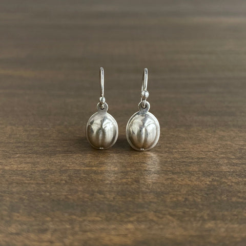 Rachel Atherley Solid Silver Scarab Earrings