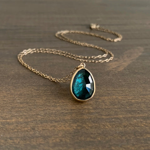 Lola Brooks Bluegreen Tourmaline Drop Pendant