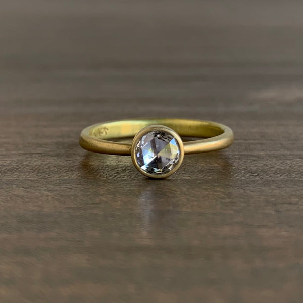 Lola Brooks Round Clear Rose Cut Diamond Ring