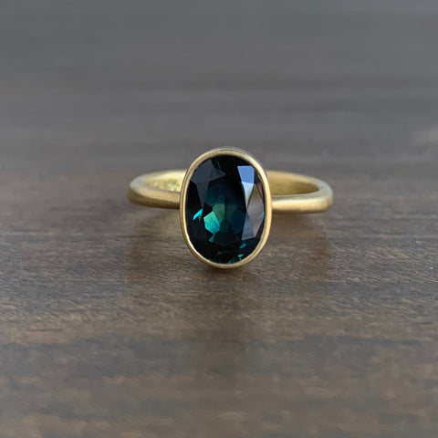 Lola Brooks Oval Full Cut Australian Blue Sapphire Ring