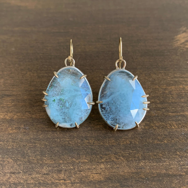 Hannah Blount Powder Aquamarine Vanity Earrings