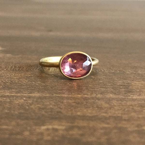 Lola Brooks Pink Oval Sapphire Ring