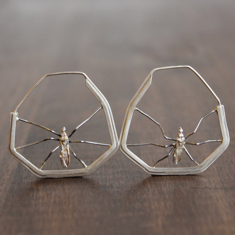Aliyah Gold Mosquito Earrings