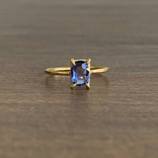 Rosanne Pugliese Faceted Blue Sapphire Mini Gem Ring