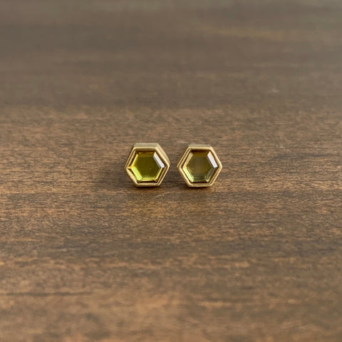 Lola Brooks Hexy Natural Yellow Sapphire Sequin Studs