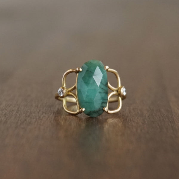 Katie Carder Emerald Filigree Ring