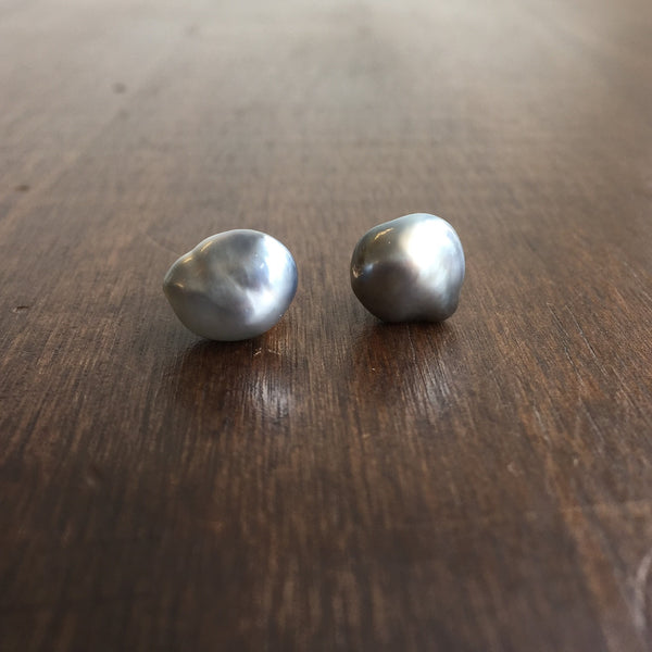 Rosanne Pugliese Keshi Pearl Stud Earrings