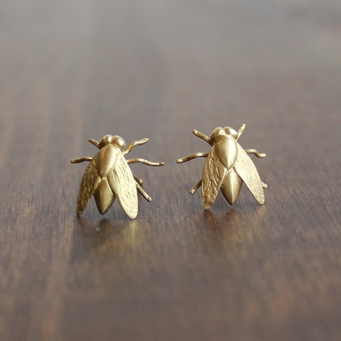 Gabriella Kiss 18k Gold Fly Earrings