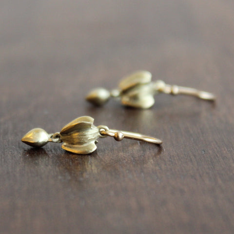 Gabriella Kiss 18k Gold Buckwheat with Seed Earrings
