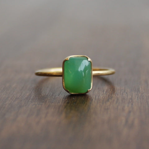 Gabriella Kiss Chrysoprase Ring
