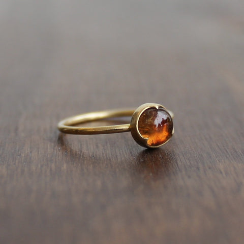 Gabriella Kiss Round Peach Tourmaline Ring