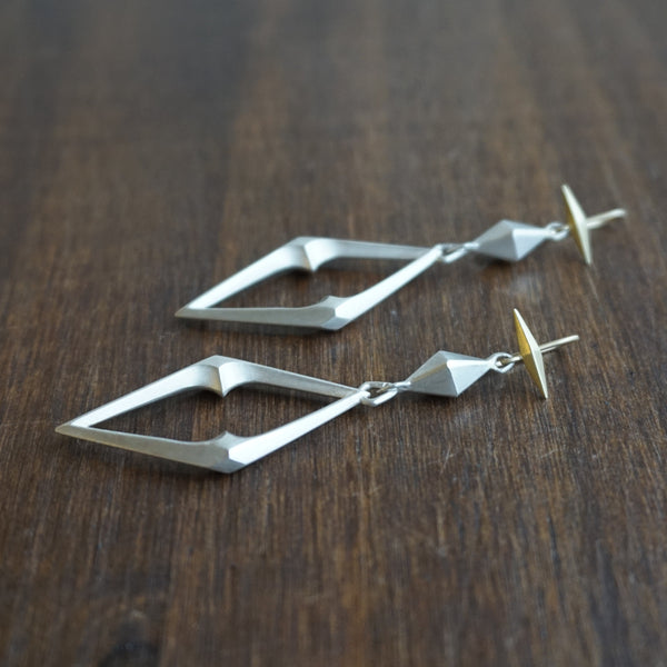 Gabriella Kiss Large Chiseled Link Earrings
