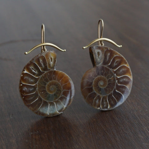Gabriella Kiss Ammonite Earrings