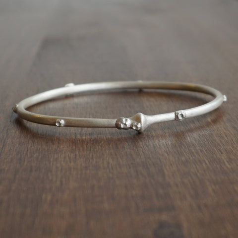 Hannah Blount Silver Cable Bangle with Barnacles