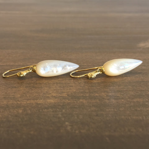 Hannah Blount Mother of Pearl Figurehead Cameo Earrings