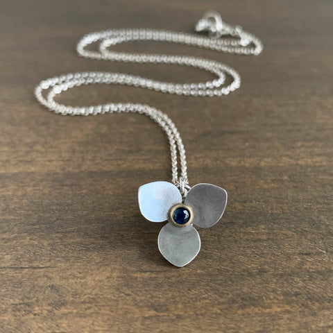 Katie Carder Trillium Necklace with Sapphire